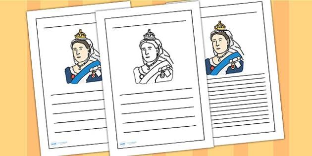 Queen Victoria Writing Frame - queen victoria, writing frame, writing template, writing guide, writing aid, line guide, writing guide, themed writing aid