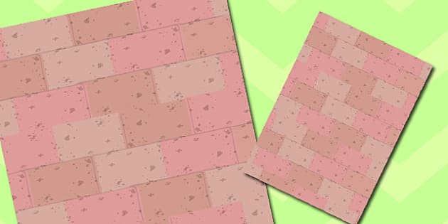 Brick Themed A4 Sheet - brick, themed, a4, sheet, paper, bricks