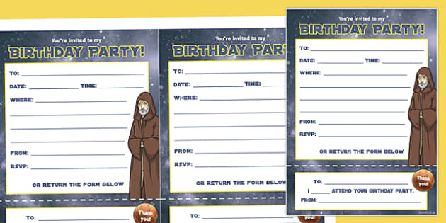 Space Wars Party Invitations - Star wars party, space wars, invitations