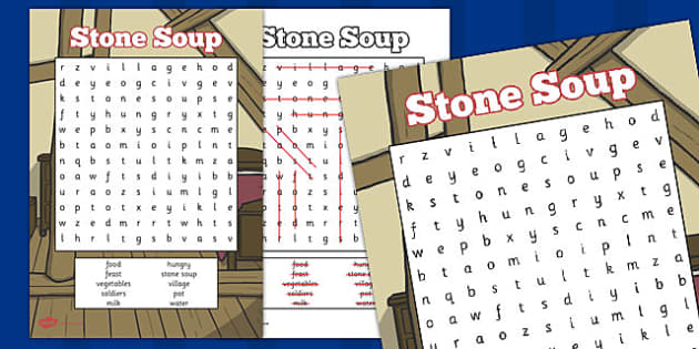 Stone Soup Wordsearch - stone soup, wordsearch, word, search