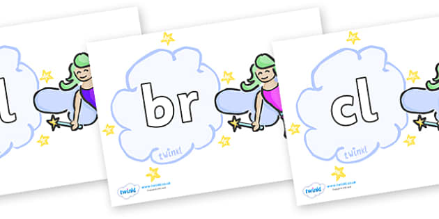 Initial Letter Blends on Fairies - Initial Letters, initial letter, letter blend, letter blends, consonant, consonants, digraph, trigraph, literacy, alphabet, letters, foundation stage literacy