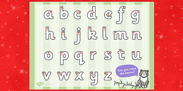 Christmas Cat Themed Letter Writing Worksheet - christmas cat, mog, letter writing