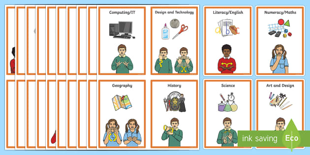 BSL KS1 Visual Timetable - BSL Resources, British Sign Language, Deaf Awareness, Sign Support, Sign Supported English, Hearing