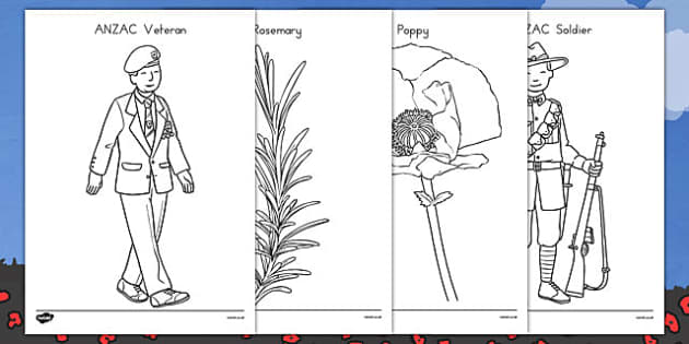 Anzac Colouring Pictures 35