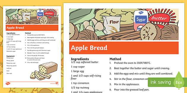 Fall Apple Bread Recipe