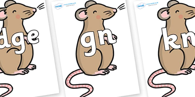 Silent Letters on Mouse - Silent Letters, silent letter, letter blend, consonant, consonants, digraph, trigraph, A-Z letters, literacy, alphabet, letters, alternative sounds