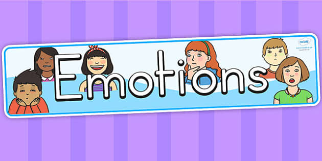 Emotions Display Banner - emotions, feelings, my body, ourselves