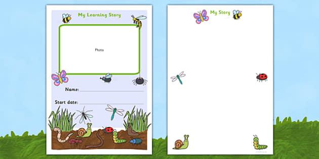 EYFS My Learning Journey Front Coer Minibeast Themed - minibeasts