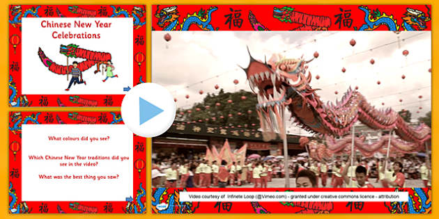 Chinese New Year Celebrations Videos PowerPoint - video clip, fun