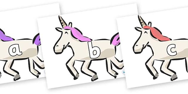 Phase 2 Phonemes on Unicorns - Phonemes, phoneme, Phase 2, Phase two, Foundation, Literacy, Letters and Sounds, DfES, display
