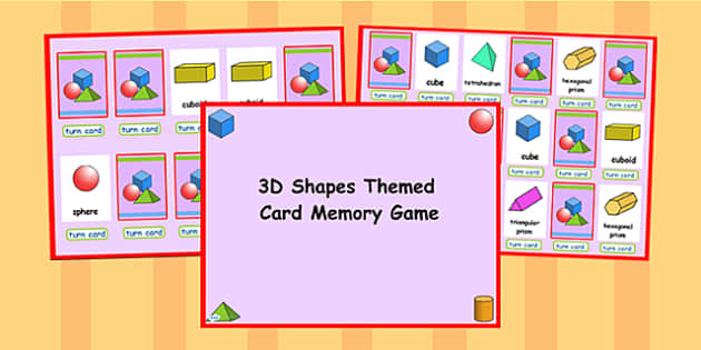 3D Shape Matching Cards Activity Flipchart - 3d, shapes, match