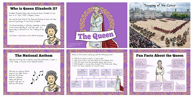 Queen Elizabeth ll PowerPoint - australia, queen, elizabeth