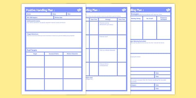 Positive Handling Plan - positive handling, plan, positive, handling