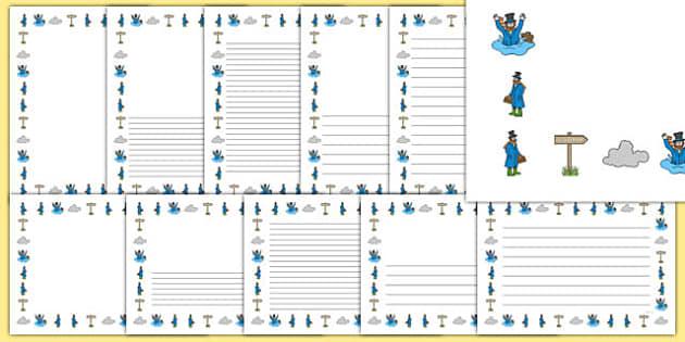 Doctor Foster Page Borders - Doctor Foster, page border, border, writing template, frame, nursery rhyme, rhyme, rhyming, nursery rhyme story, nursery rhymes, doctor, people who help us, Doctor Foster resources