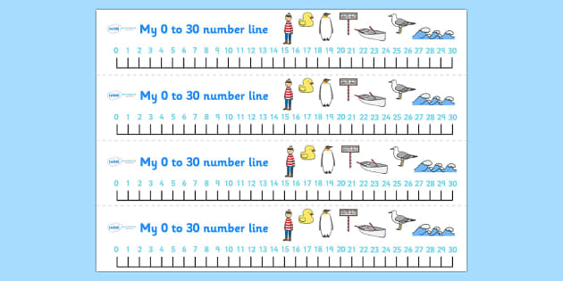 Number Lines 0-30 to Support Teaching on Lost and Found - lost, found, visual aid, count