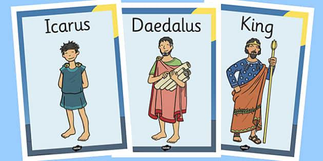 Icarus Display Posters - icarus, display, posters, greek, myth