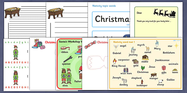 Christmas Literacy Resource Pack - christmas, literacy, pack