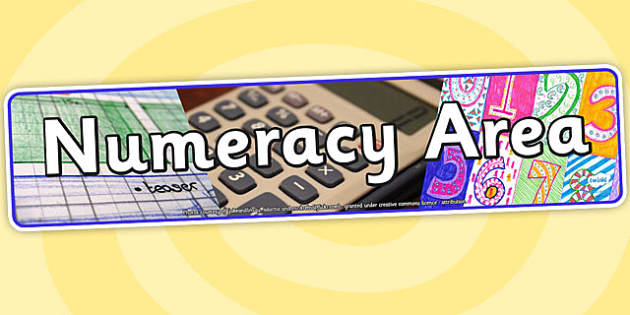 Numeracy Area Photo Display Banner - numeracy area, display, photo banner, banner, display banner, display header, themed banner, photo display, photo