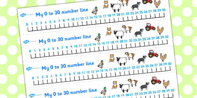 Farmer and Duck Number Lines 0-30 - farmer duck, number line, 0-30, farmer duck number line, themed number line, numeracy, maths, nubmer track, counting