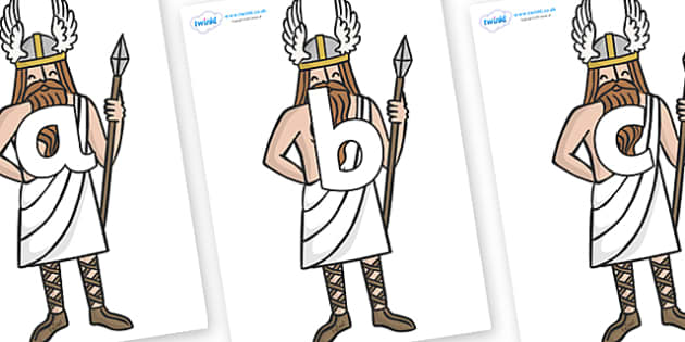 Phoneme Set on Viking Gods - Phoneme set, phonemes, phoneme, Letters and Sounds, DfES, display, Phase 1, Phase 2, Phase 3, Phase 5, Foundation, Literacy