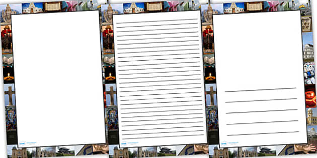 Religion Photo Page Border - religion, RE, photo page border, page bored, borders, writing frame, writing template, writing guide, lined guide, guides