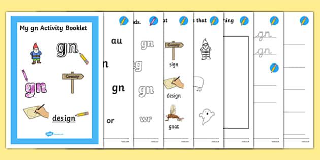 Gn Grapheme Phase 5 Alternative Spellings Activity Booklet