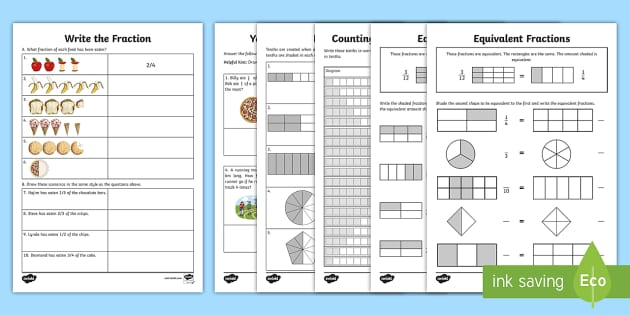 Year 3 Fractions Learning from Home Maths Activity Booklet - Learning from home Maths Workbooks, home learning, workbook, revsion, booster, intervention, indepen