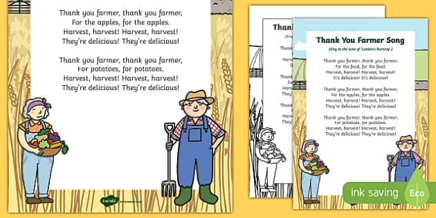 Thank You Farmer Song