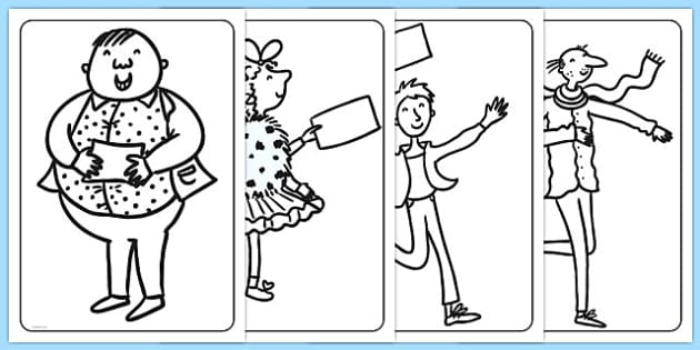 Colouring Pages to Support Teaching on Charlie and the Chocolate Factory - australia