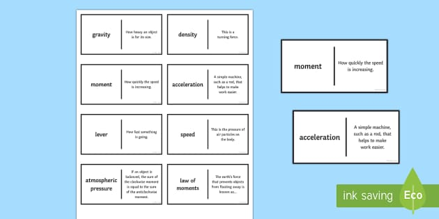 Speed Patience Glossary Activity - Glossary, speed, density, gravity, acceleration