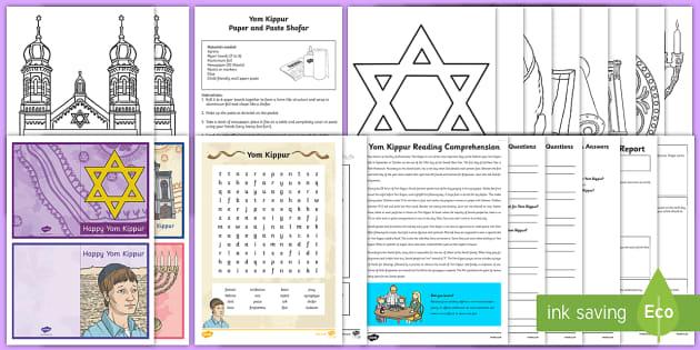 Yom Kippur  Activity Pack - Yom Kippur, forgiveness, Jews, Jewish, pray, repent, Ks2, Ks1