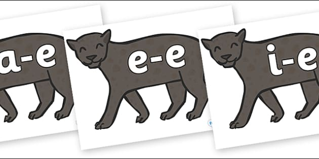 Modifying E Letters on Panthers - Modifying E, letters, modify, Phase 5, Phase five, alternative spellings for phonemes, DfES letters and Sounds