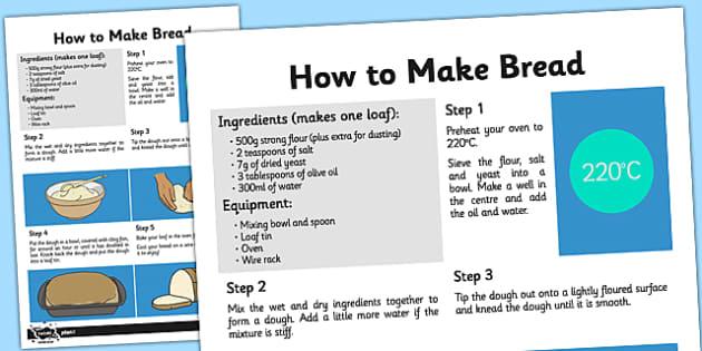 Bread Recipe Sheet - bread, recipe, recipe sheet, bread recipe