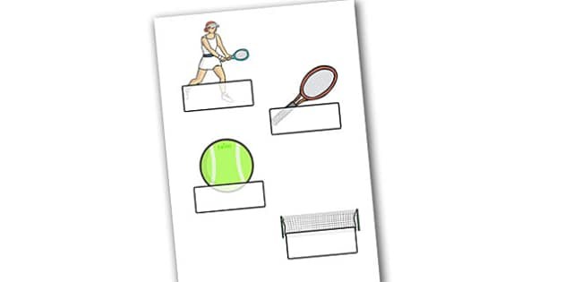 The Olympics Tennis Self Registration - Tennis, Olympics, Olympic Games, sports, Olympic, London, 2012, Self registration, register, editable, labels, registration, child name label, printable labels, activity, Olympic torch, events, flag, countries,