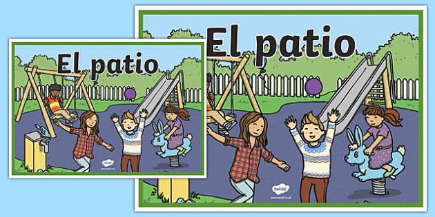 Cartel El patio-Spanish