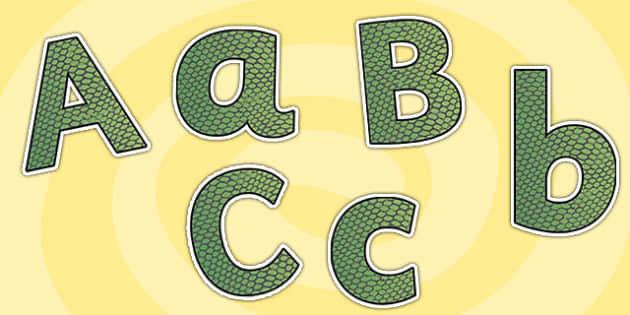 Snake Skin Themed Size Editable Display Lettering - snake skin, size editable, editable lettering, display lettering, snake skin lettering, letters