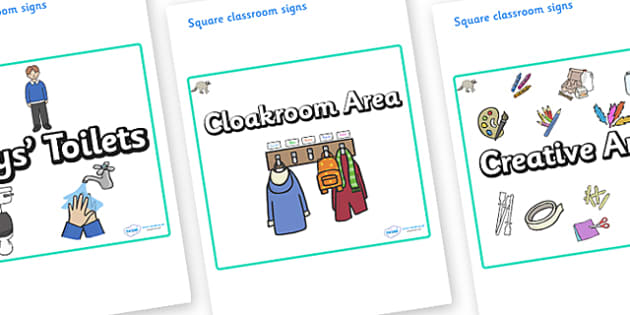 Raccoon Themed Editable Square Classroom Area Signs (Plain) - Themed Classroom Area Signs, KS1, Banner, Foundation Stage Area Signs, Classroom labels, Area labels, Area Signs, Classroom Areas, Poster, Display, Areas