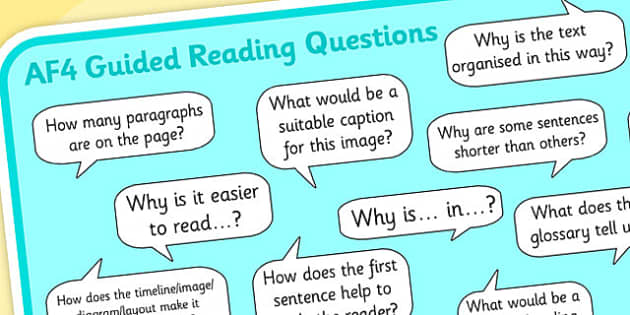 AF4 Guided Reading Question Mat - assessment focus 4 mat, af mat, af4 mat, assessment focus questions, af4 questions mat, assessment focus reading mat, af4