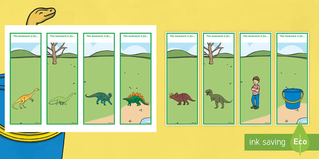Editable Bookmarks to Support Teaching on Harry and the Bucketful of Dinosaurs - stories