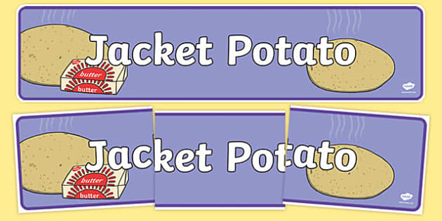 Jacket Potato Display Banner - jacket potato, display banner, display, banner