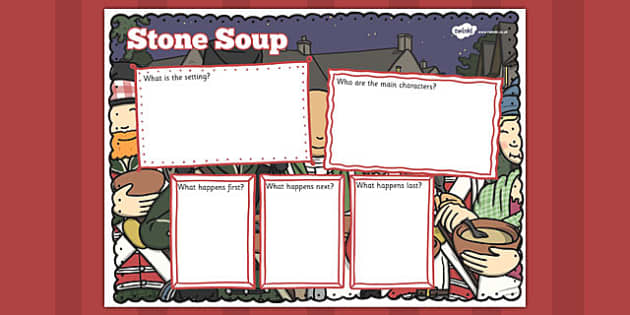 Stone Soup Story Review Writing Frame - stone soup, story, review