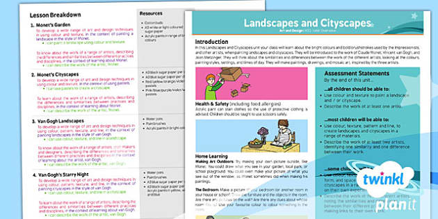 PlanIt - Art and Design KS1 - Landscapes and Cityscapes Planning Overview