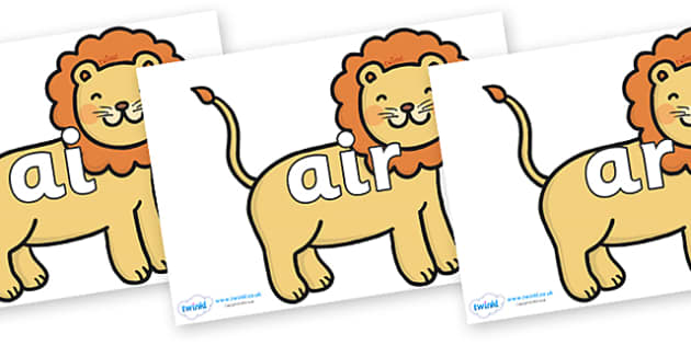 Phase 3 Phonemes on Lions - Phonemes, phoneme, Phase 3, Phase three, Foundation, Literacy, Letters and Sounds, DfES, display