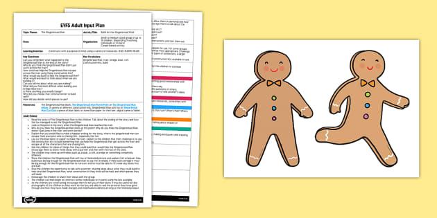 EYFS Build for the Gingerbread Man Adult Input Plan and Resource Pack - The Gingerbread Man, Traditional Tales, construction, problem-solving