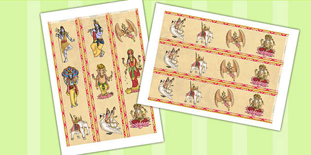 Hindu Gods Display Borders - hinduism, religion, RE, border
