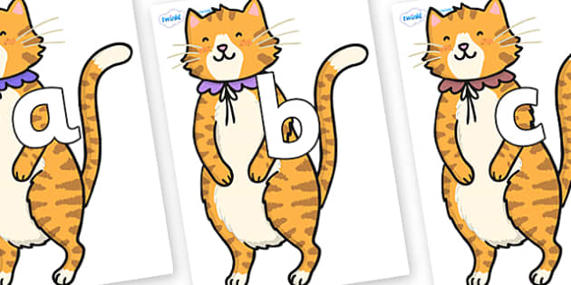 Phoneme Set on Pussycat - Phoneme set, phonemes, phoneme, Letters and Sounds, DfES, display, Phase 1, Phase 2, Phase 3, Phase 5, Foundation, Literacy