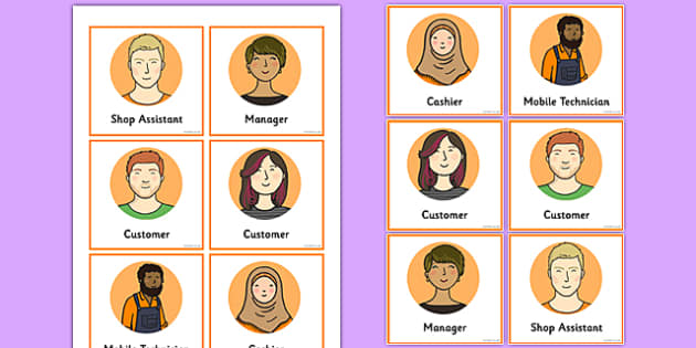 Mobile Phone Shop Role Play Badges - mobile phone shop, role play, badges