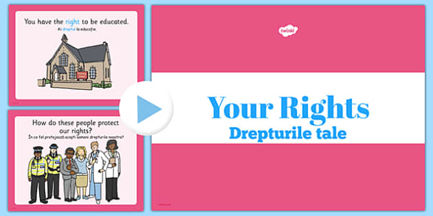 Your Rights PowerPoint Romanian Translation - romanian, your rights, powerpoint, rights, childrens rights