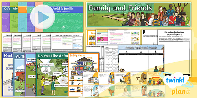 PlanIt - Year 5 French - Family and Friends Unit Pack - french, languages, grammar, homes, houses, animals, family, relations, describing,French
