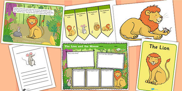The Lion And The Mouse Story Sack - story sack, pack, fable